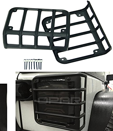 Opar Matte Black Rear Taillight Cover for 2007-2017 Jeep Wrangler JK & Unlimited - Pair