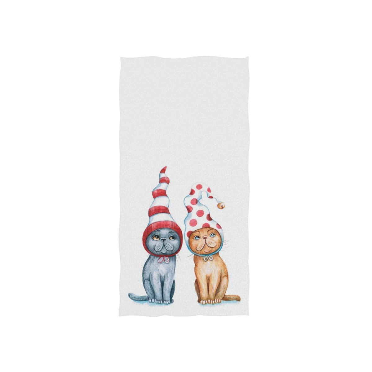 susiyo Watercolor Funny Christmas Cats Hand Towels Luxury Print ...