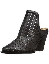 The Fix Women's Jaeda Open Weave Mule Shoetie Ankle Bootie, Black, 9 B US