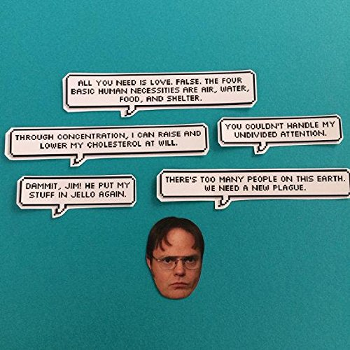Dwight Schrute Quotes Amazon.com: Dwight Schrute Quotes Sticker Set: Handmade Dwight Schrute Quotes