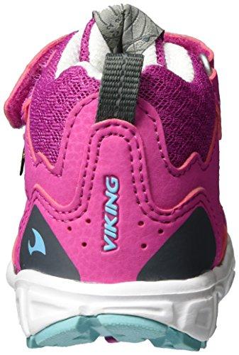 Viking Hobbit Mid GTX - Zapatillas De Deporte Para Exterior de material sintético infantil Pink (Magenta/Turquoise)
