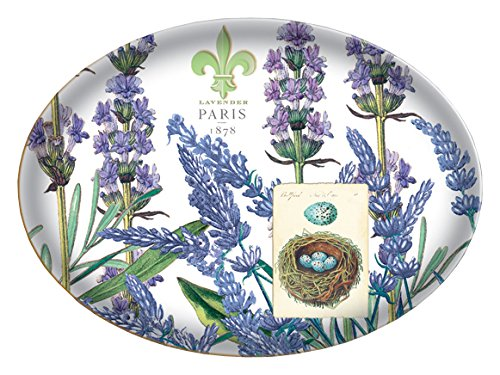 Michel Design Works Glass Soap Dish, Lavender, 4-3/4 by 6-1/4-Inch ()