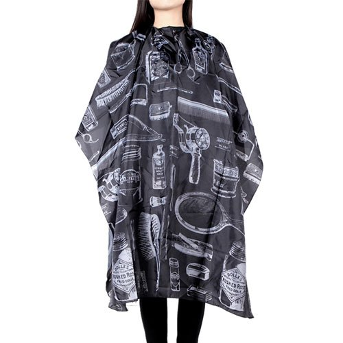 - Borogo Professional Waterproof Hair Styling Cape Nylon Haircuting Salon Cape Gown Hair Salon with Snap Closure - 50