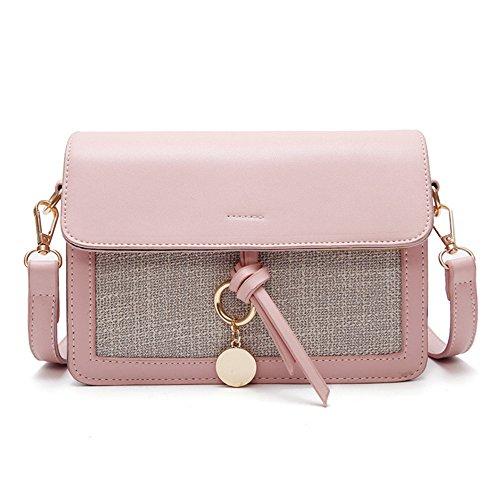 Nouveau Sac Pu À À Unique Pink Blanc Été Bandoulière Sac GWQGZ Main Dame BtwR5n