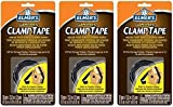 Elmer's E805 3/4-Inch by 5-Feet Carpenter Clamp Tape, Black (Pack of 3)