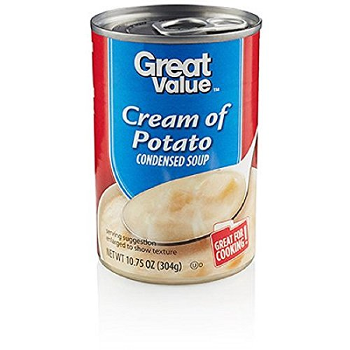 Condensed Pack Value (Great Value Cream Of Potato Condensed Soup, 10.75 oz 4 pack)