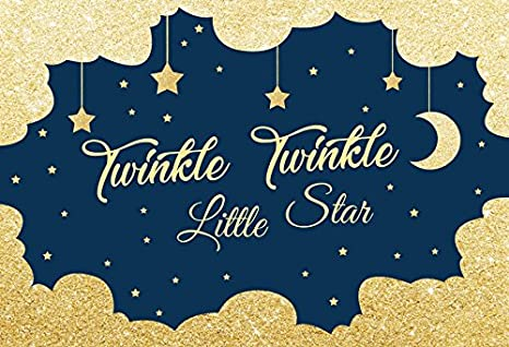 cf2a53dee OFILA Twinkle Twinkle Little Star Backdrop 8x6.5ft Moon and Stars  Background Sparkling Shoots Baby