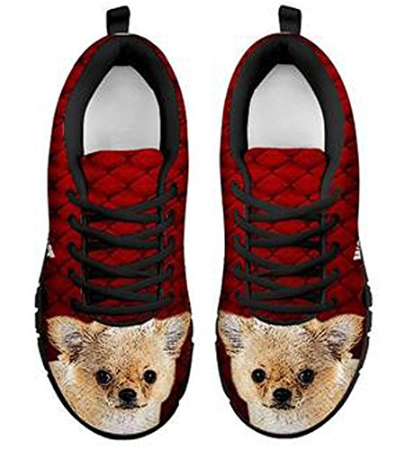 Brand Dog Sneakers Casual 5 9 Chihuahua Men's Print Black Amazing frwfxaB