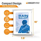 Rain Coats (2 Pack) - EVA Rain Poncho for Women and Men, Reusable Raincoat