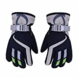 AONIJIE Children's Ski Gloves Waterproof Windproof Warm Lining Outdoor Sports Snow Gloves For 5-10 Years Old Boy &Girls-Navy Blue