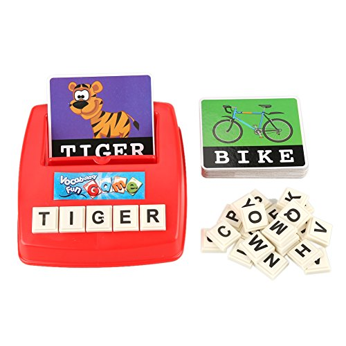 Spelling Toy, Acogedor Alphabet Letter Word Match and Spell Board Games for Kids Toddle Preschoolers Learning Great Educational Play Set ()