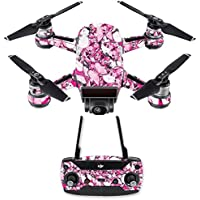 Skin for DJI Spark Mini Drone Combo - Butterflies| MightySkins Protective, Durable, and Unique Vinyl Decal wrap cover | Easy To Apply, Remove, and Change Styles | Made in the USA