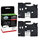 Cool Toner Compatible P Touch Label Tape Replacement for Brother TZ-211 TZe-211 TZe211 (1/4