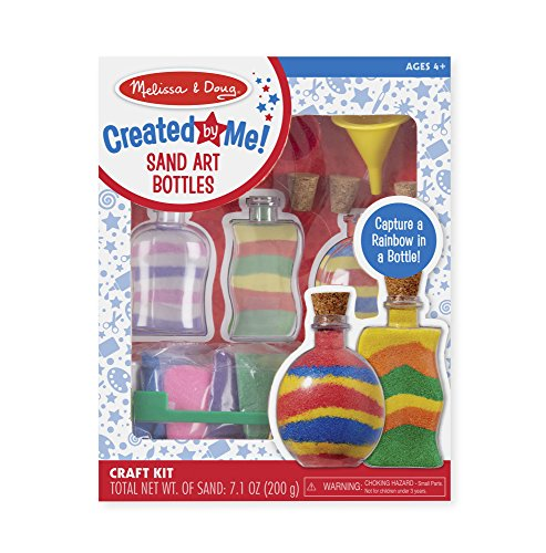 Melissa & Doug Sand Art Bottles Craft Kit: 3 Bottles, 6 Bags of Colored Sand, Design Tool ()