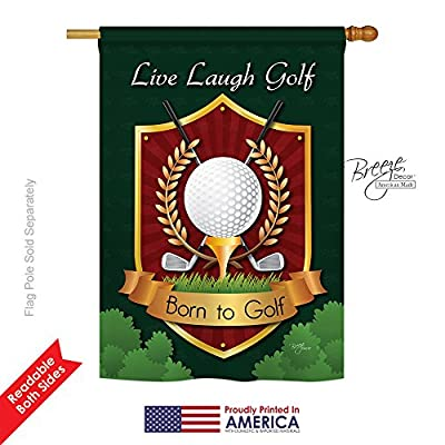"Live, Laugh, Golf Large Flag 28""x 40"""