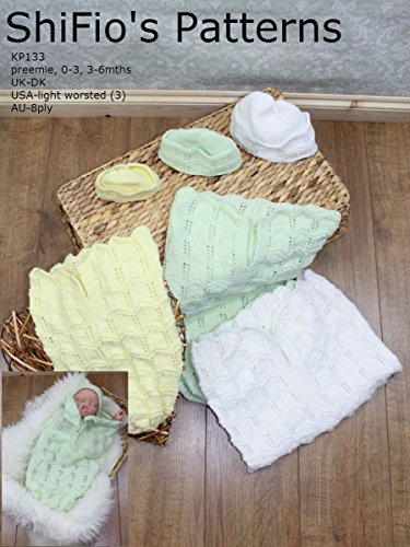 Knitting Pattern Baby Cocoon Papoose - Preemie