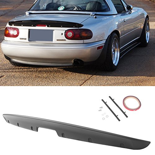 Miata MX5Rear Trunk Spoiler Mazda 90-97 KG Style ABS Unpainted Rear Mount MX-5 (Mazda Miata Trunk)