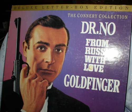 DELUXE LETTER-BOX EDITION THE CONNERY COLLECTION DR. NO FROM RUSSIA WITH LOVE GOLDFINGER