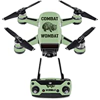 Skin for DJI Spark Mini Drone Combo - Combat Wombat| MightySkins Protective, Durable, and Unique Vinyl Decal wrap cover | Easy To Apply, Remove, and Change Styles | Made in the USA