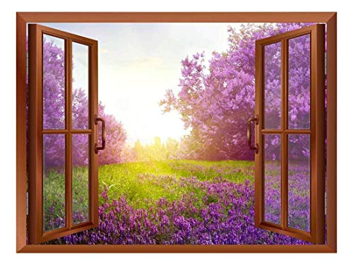- wall26 Lavender Field Removable Wall Sticker/Wall Mural - 36