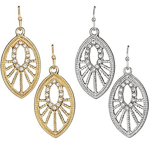 Avon Dangling Earrings - Beautiful Sunrise Earrings - goldtone