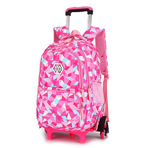 Amazon.com | Kids Trolley Schoolbag Boys Girls Rolling Backpack Wheeled Luggage Durable Bag | Kids Backpacks
