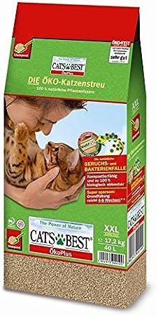SET 3 x CAT/'S BEST OKOPLUS 7LT 3kg SABBIA NATURALE GATTO per Lettiera COMPOST
