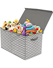 Sorbus Toy Chest with Flip-Top Lid, Kids Collapsible Storage for Nursery, Playroom, Closet, Home Organization, Large
