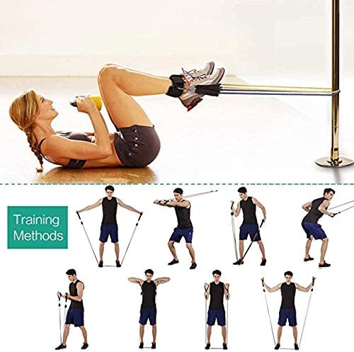 Aigoo - Juego de bandas de resistencia elásticas para musculación, bandas de yoga de resistencia, látex, fitness, ejercicio, deporte, musculación, ...