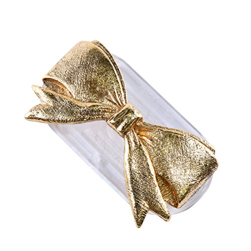Magcessory Ribbon Bow Magnetic Eyeglass Holder Brooch, Scarf Pin, Cardigan Closure Set, Gold