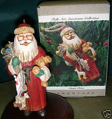 Hallmark Folk Art Santa Claus - Rare Ornament - dated 1993