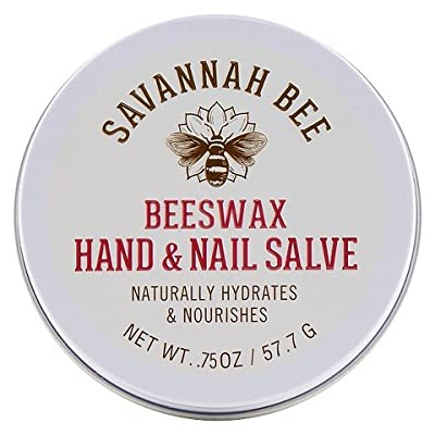 Savannah Bee Company Beeswax Hand & Nail Salve, .75 OZ