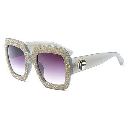 Peggy Gu Gafas de Sol Grandes de Cristal cuadradas para Las ...