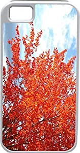 Case For Iphone 5/5S Cover Customized Gifts Cover red Leaves FloweIdeal Gift