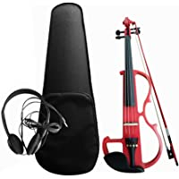 Sangmei 4/4 Electroacoustic Violin Kit Solid Wood Electric Silent Violin Fiddle Style Basswood Body Ebony Fingerboard…
