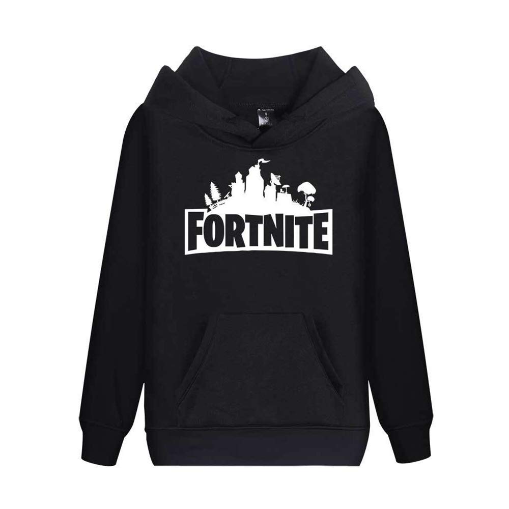 BIOSTON 3D Printing Unisex Youth Adult Hoodie Novelty Fortnite Game Sweatshirt Pullover Top
