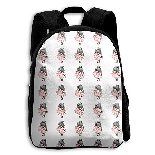 Pug Lady In Rosie Dress Boys Girls Popular Printing Toddler Kid Pre School Backpack Bags Lightweight
