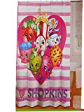 Shopkins Shower Curtain, Hooks, Wastebasket, Bath Rug and Towel
