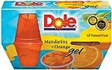 Dole Fruit Bowls Mandarins in Orange Gel 4.3 Oz Cups - 6 Pack