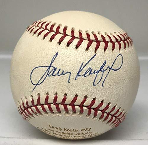 Sandy Koufax Signed Stat Engraved Baseball JERSEY NUMBER LE #32/32 LOA HOF - JSA Certified - Autographed Baseballs