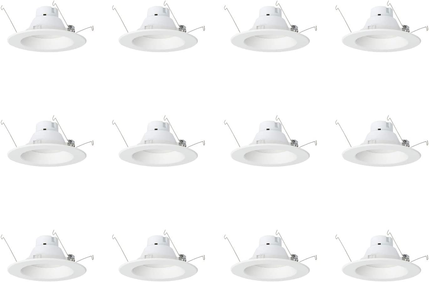 AmazonCommercial 120 Watt Equivalent, 5/6-Inch Recessed Downlight, Dimmable, CEC Compliant, Energy Star, Round LED Light Bulb | Daylight, 12-Pack