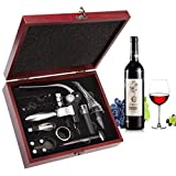Wine Opener Set - Smaier Rabbit Style Corkscrew,Wine Accessories,Wine Opener Kit Gift Set with Wood Case