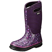 Bogs Kids Classic Flower Stripes Winter Snow Boot