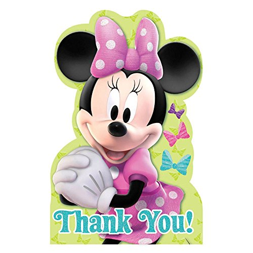 Minnie Mouse Postcard Thank You Cards (8 Pack) - Party Supplies