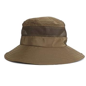 Yangyme Sombrero de Pesca de protección UV Sombrero de Verano for ...