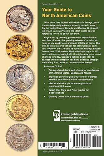 2018 North American Coins & Prices: A Guide to U.S., Canadian and Mexican Coins (North American Coins and Prices)
