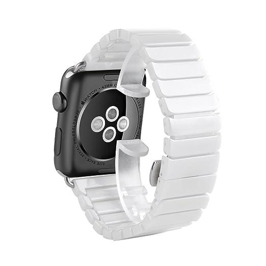 4 opinioni per Huanlong lusso ceramica bracciale Watch Band strap cinturino per Apple Watch &