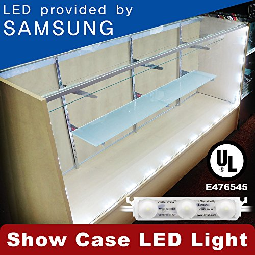 Crystal Vision Premium Samsung Pre-Installed LED Kit for Showcase, Display Case, Under Cabinet LED & Dressing Room Mirror - 12.5ft (W/ Remote Controller)