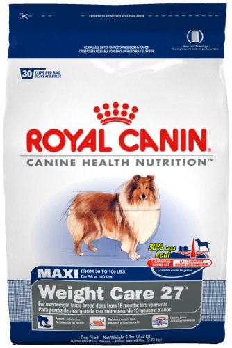Royal Canin Dry Dog Food, Maxi Weight Care 27 Formula, 30-Pound Bag