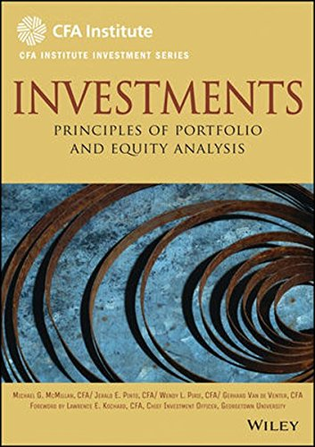 Investments  Principles Of Portfolio And Equity Analysis